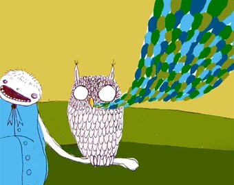 The Speaking Owl -  PRINT  - various sizes