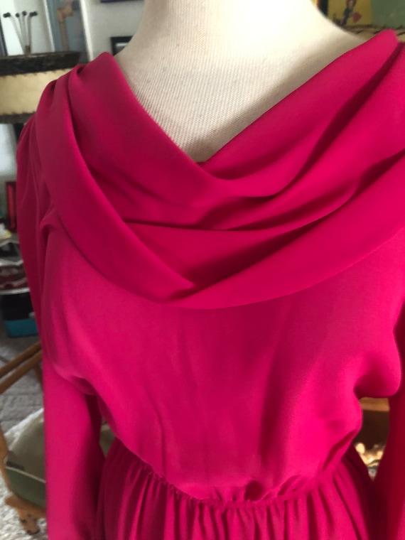 1940s style Dress  / 40s style fuschia pink dress… - image 4