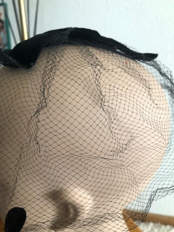1950s Net Hat / 50s dot hat / 1950s fascinator - image 6