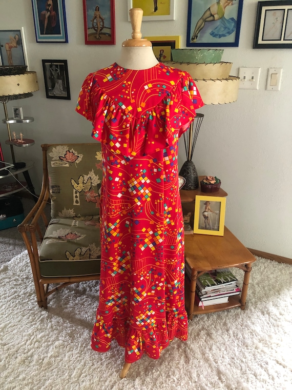 1930s style print Dress  / 30s style abstract nov… - image 2