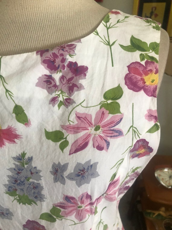1940s style Dress  / 40s style floral dress / 80s… - image 3