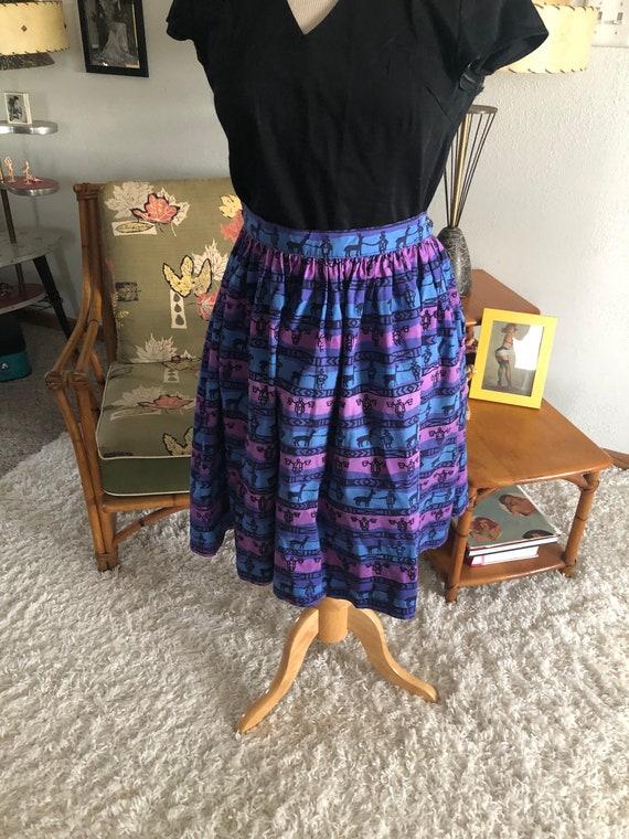 1950s Skirt /50s skirt abstract novelty print - image 3