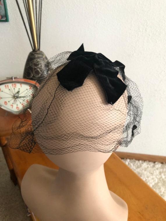 1950s Net Hat / 50s dot hat / 1950s fascinator - image 7
