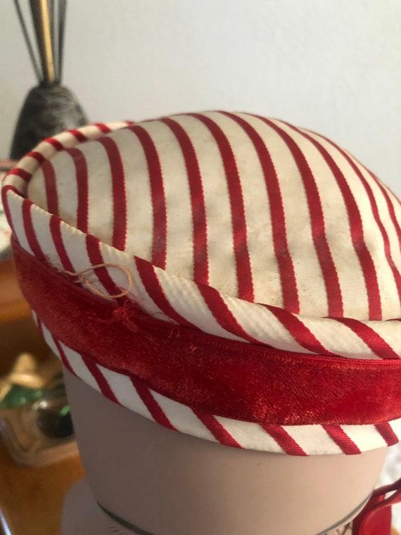 1950s Hat Lot / 50s striped pillbox / 50s black p… - image 5