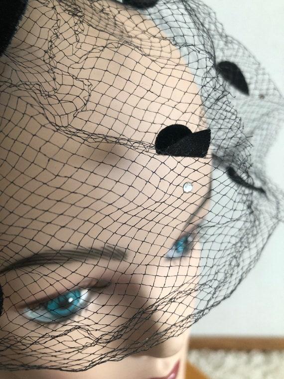 1950s Net Hat / 50s dot hat / 1950s fascinator - image 9