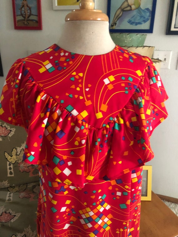 1930s style print Dress  / 30s style abstract nov… - image 4