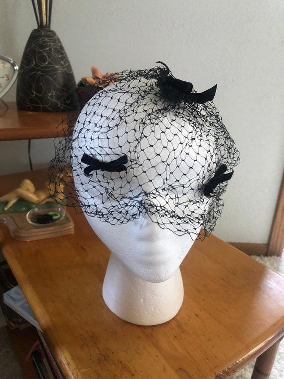 1950s Hat Lot / 50s velvet hat / 1950s fascinator - image 6