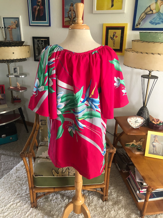 1940s style Blouse  / 40s style floral top / Hawa… - image 7