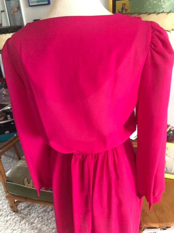 1940s style Dress  / 40s style fuschia pink dress… - image 6