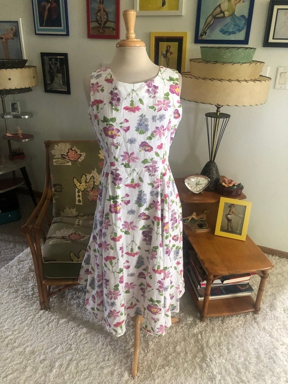 1940s style Dress  / 40s style floral dress / 80s… - image 6