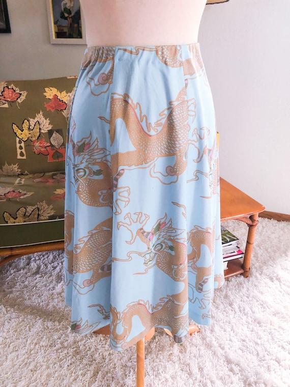 1940s style Skirt  / 40s style dragon print skirt