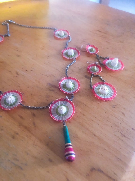 1940s celluloid jewelry / 40s celluloid necklace a