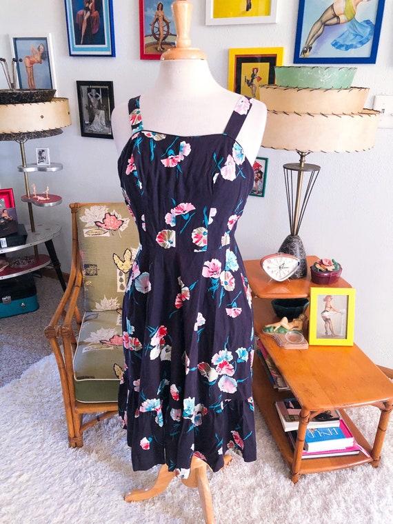 1940s style Floral Dress  / 40s style sundress / 8