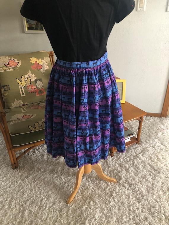 1950s Skirt /50s skirt abstract novelty print - image 6
