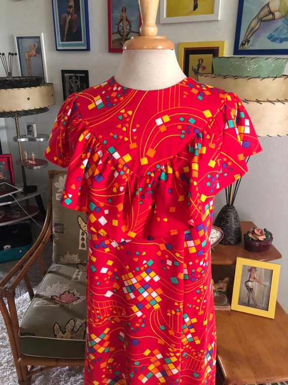 1930s style print Dress  / 30s style abstract nov… - image 3