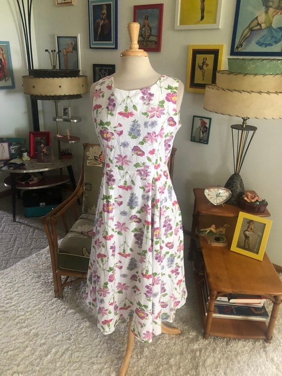 1940s style Dress  / 40s style floral dress / 80s… - image 7