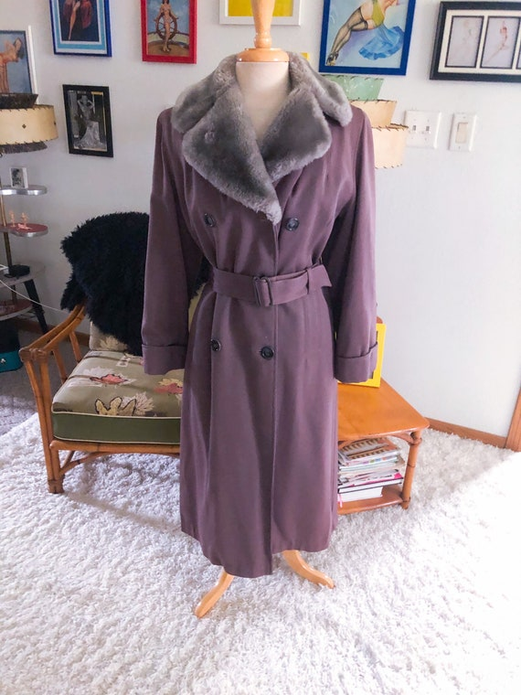 1940s style Princess Coat / 40s style Coat with Fa