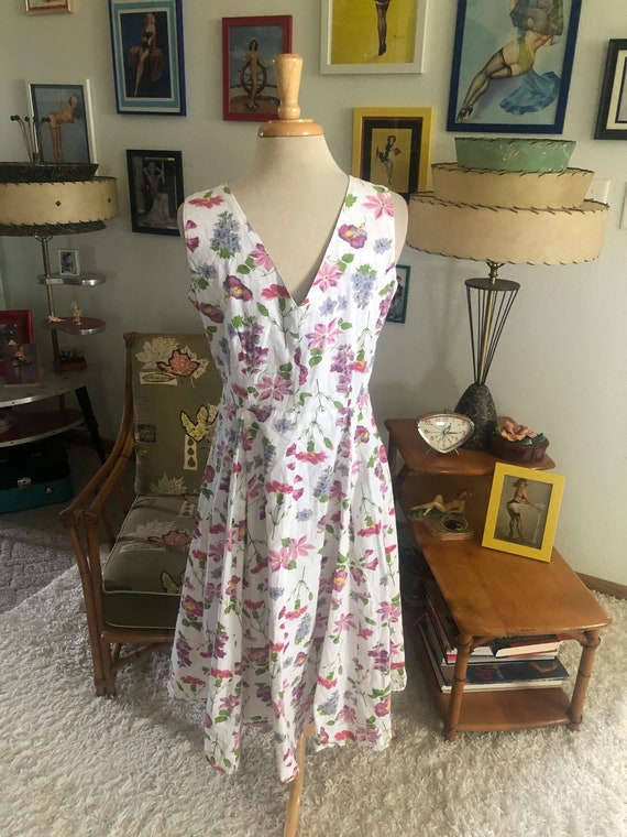1940s style Dress  / 40s style floral dress / 80s… - image 5