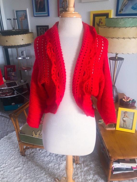1950s Sweater / 50s Bolero Sweater