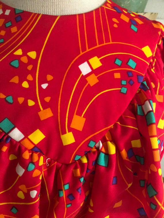 1930s style print Dress  / 30s style abstract nov… - image 5