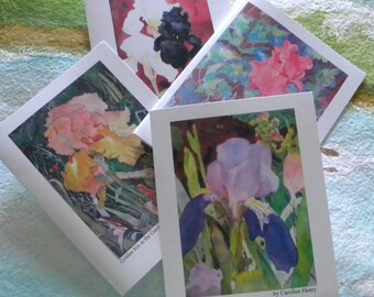 Watercolor Iris Note Card Set