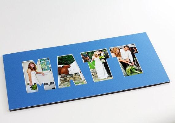 Name / Word Photo Mat - Personalized Custom Cut Matting - Frame ...