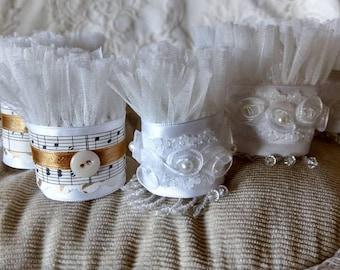 Handmade napkin rings, for wedding, bridal shower or parties