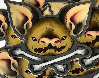 Bat Bone Jumbo Sticker