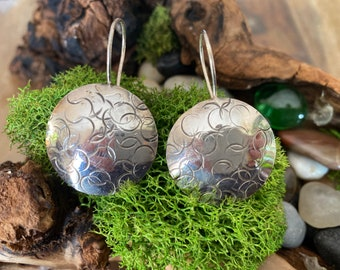 Textured Sterling Silver Earrings - Custom Order