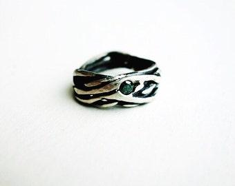 Blue Diamond Nest Ring