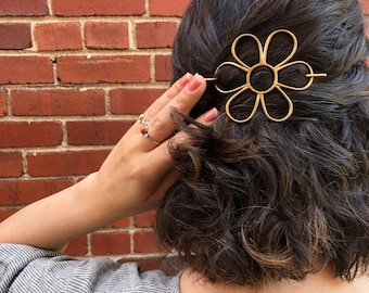 Daisy Flower Hair Pin Set Hair Slider Bun Holder Hair Barrette Bun Pin Set