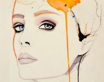 Orchid - Fashion Illustration Art Print