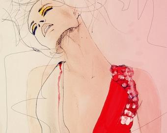Atmosphere - Fashion Illustration Art Print