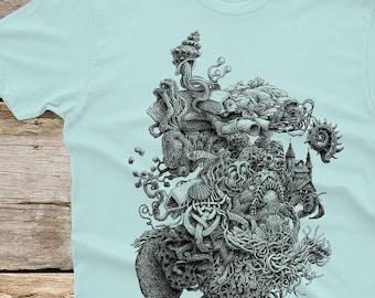 Weird Shirt - Men's Gift - Surreal T-shirt - Ocean Art - Surrealism - Surreal Art - Weird Stuff - Strange Unique Gifts Cool Shirt