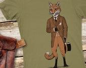 Fox Tshirt -  Womens Tshirt -  Animal Tshirt - Mr. Fox - Fox Shirt - Women's Gift - Nature Lover Gift Fantastic T-shirt