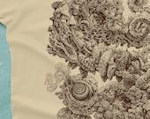 Mushroom Shirt - Nature Tshirt - Mushroom Drawing - Magic Mushroom Art - Men's Graphic Tee - Mushroom Tshirt - Scatterbrain Tees