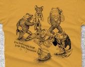 Frog Shirt - Animal Tshirt - Men's Shirt - Hipster Graphic Tee - Frog Tshirt - Animal Art - Brother Gift - Unique Art