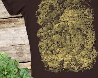 Nature Shirt - Animal Shirt - Turtles Rising - Women's Graphic Tee - Women's Tshirt - Turtle Tshirt - Women's Gift - Turtle Lover