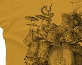 Octopus Playing Drums Shirt - Octopus Men's Shirt - Octopus T-Shirt Gift - Drummer Gift Octopus Shirt Drum Player Shirt Drummer Shirt