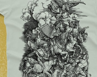 Music Shirt - Albrecht Durer Parody - Men's Funny Tshirt - Banjo Shirt - Accordion Instrument - Gifts for Musicians Banjo Gift