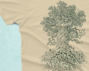 Tree Shirt - Gnarled Tree Tshirt - Men's Graphic Tee - Tree of Life - Scatterbrain Tees - Cool Gifts