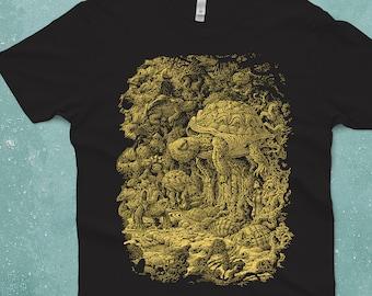 Turtle Shirt - Turtles Rising  - Men's Graphic Tee - Fantasy Art - Floating Turtle Art - Animal Tshirt - Scatterbrain Tees