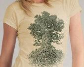 Tree of Life Shirt - Women's Graphic Tee - Gnarled Tree Shirt - Nature Lover Gift - Forest Art - Tree Art