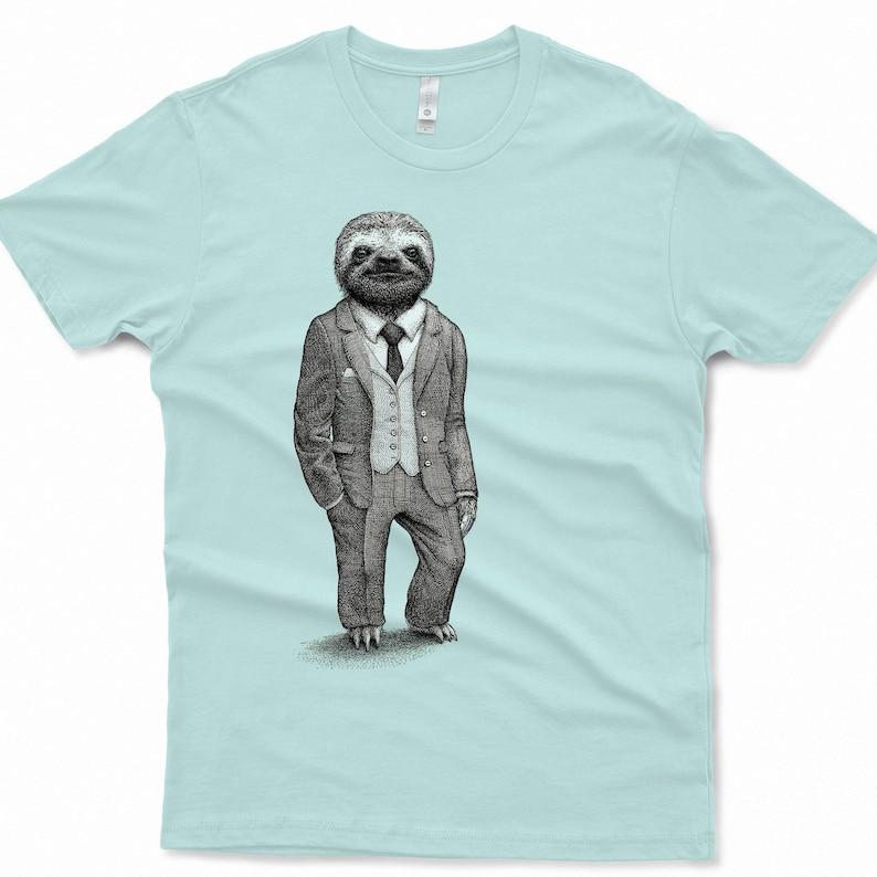 Sloth Shirt Mens Shirts Sloth T Shirt Birthday Gift Graphic image 0