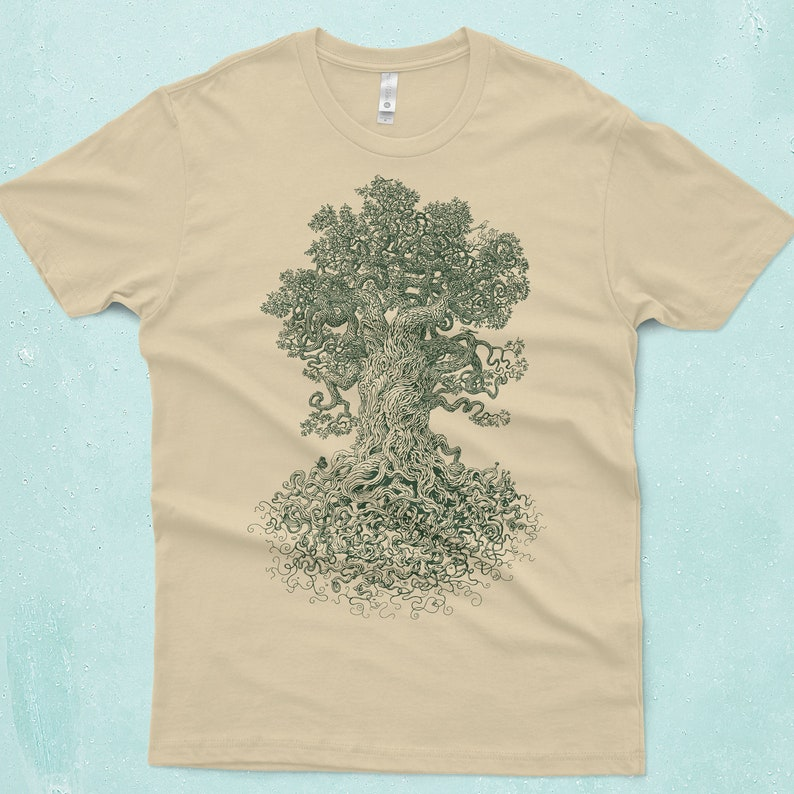 Tree Shirt  Gnarled Tree Tshirt  Men's Graphic Tee  image 0