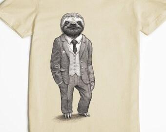Sloth Shirt - Graphic Tee for Women - Women's Tshirt - Stylish Sloth T-shirt - Funny T-shirt - Animal Shirt
