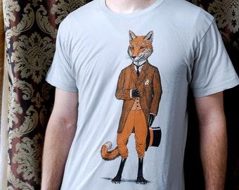 Graphic Tee for Men - Dapper Fox T-shirt