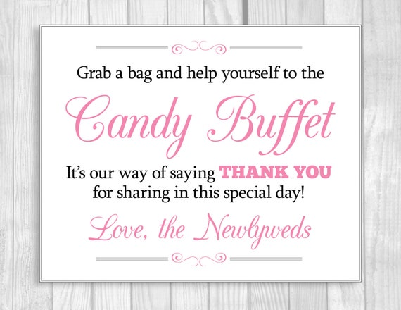 Grab A Bag And Help Yourself To The Candy Buffet 5x7 8x10 Etsy