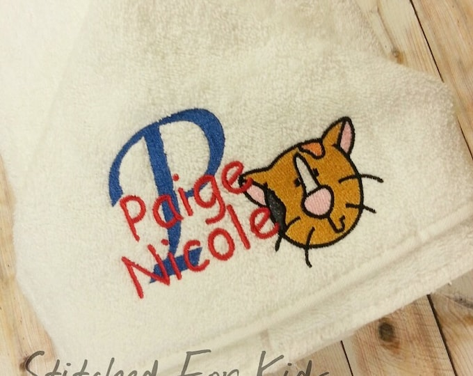 Cat Hooded Towel Personalized