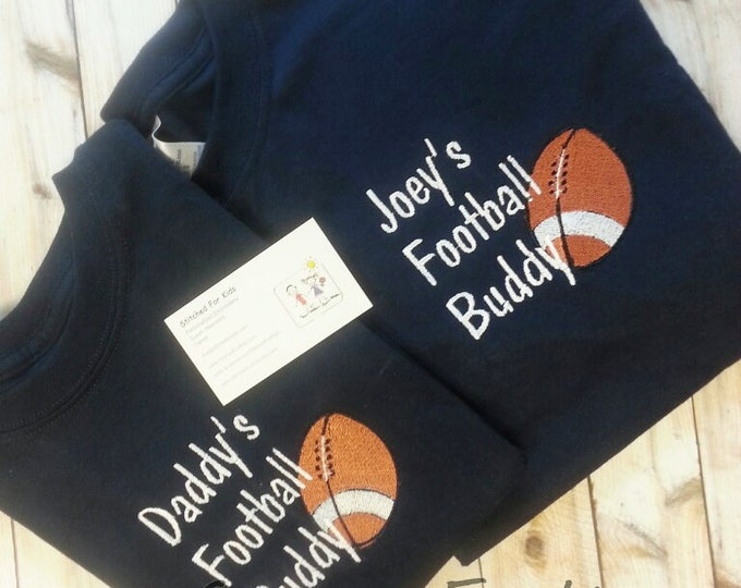 Personalized Football Matching Father and Son Football Buddy Shirts, Custom Fathers Day, Game Day Shirts, Football Friday